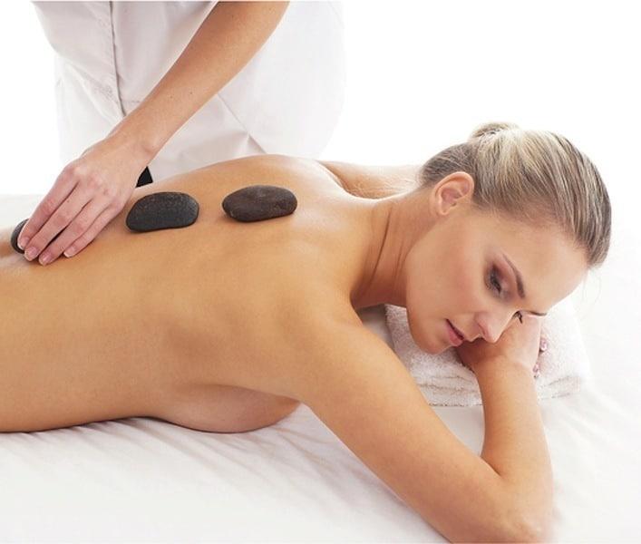 Massage,Steine