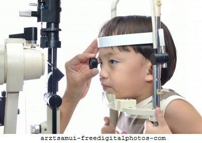 Augenärztliche Untersuchung,Spaltlampe