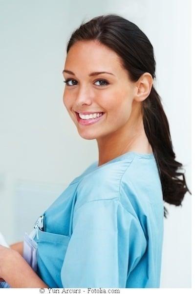 Ärztin,lächelnd,schön