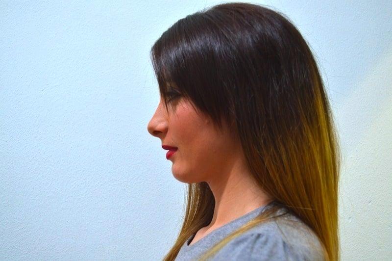 Zurückziehen des Kinns,Überstrecken des Halses