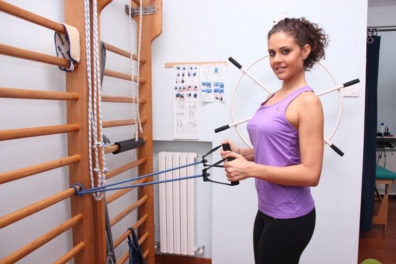 Pull,back,Stärkung,Rücken,Schulter,Rautenmuskeln,Schulterblatt,Elastikband