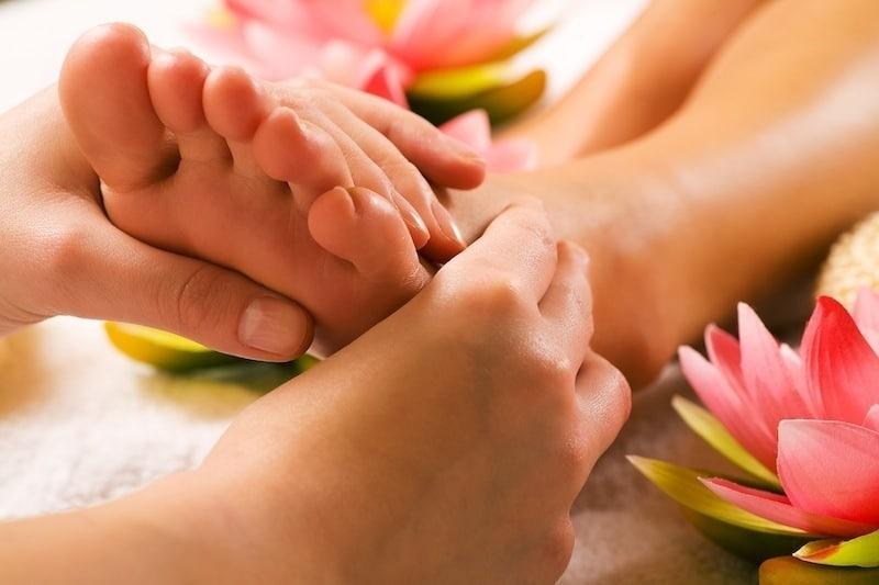 Massagetherapie,Fuß,Bein,Wade