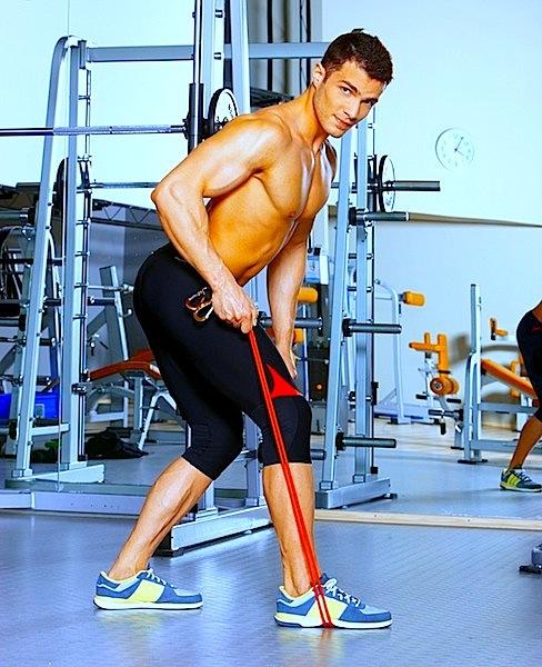 Pull,back,Fitnessstudio,Stärkung,Schulter,Elastikband,Kraft,Muskel