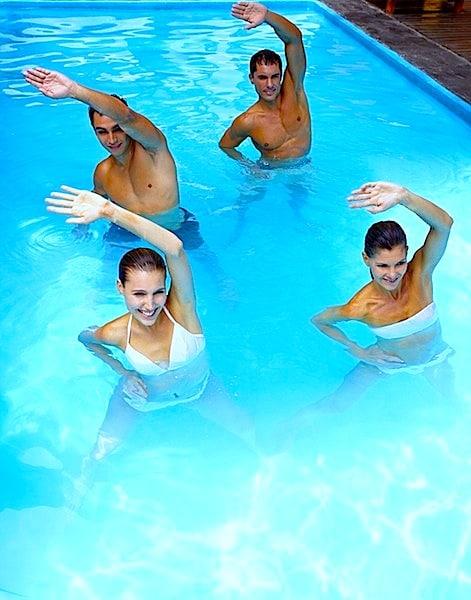 Wassergymnastik,Übungen,Schwimmbad