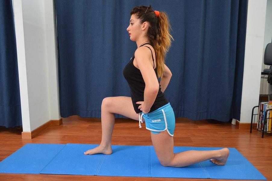 Stretching,Psoas,Schmerz,Beuger,Hüfte,Rücken