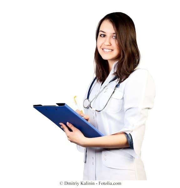 Ärztin,Untersuchung,Blut,Blutbild