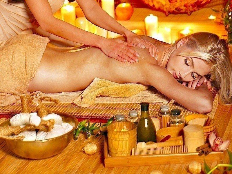 Massage,Olivenöl,Rücken,Gesicht