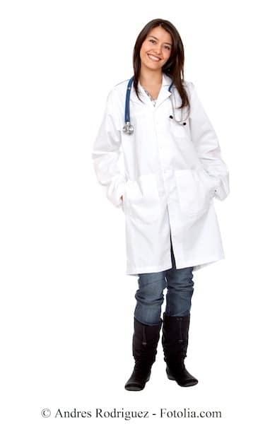 Ärztin,weißer Kittel