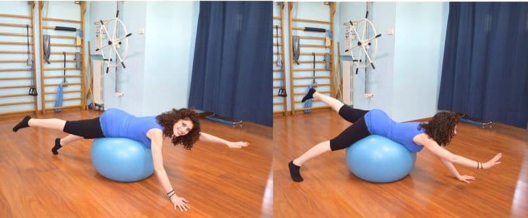 Übungen mit einem Gymnastikball