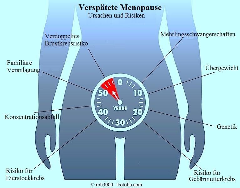 Verspätete Menopause,Übergewicht,Eierstockkrebs