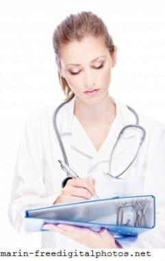 Ärztin, Kittel, männliche und weibliche Unfruchtbarkeit