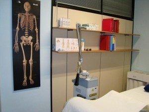 Lasertherapie oder Laserbehandlung